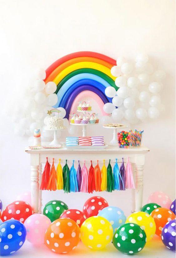 diy painel festa arco iris