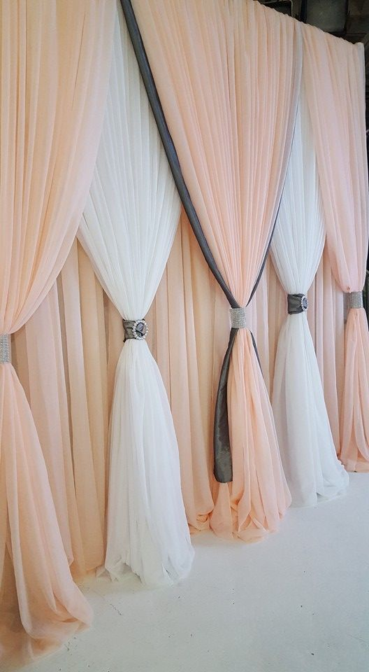 diy painel festa cortinas