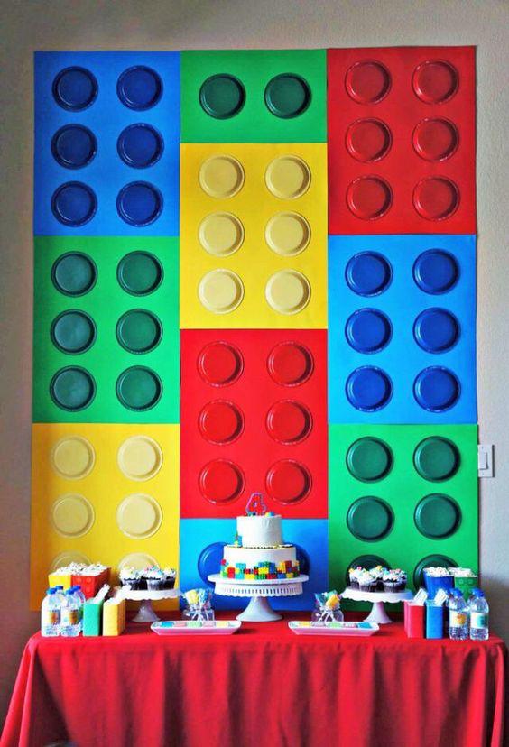 diy painel festa lego
