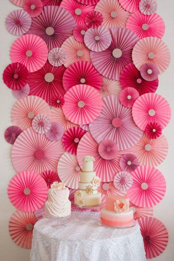 diy painel festa rosetas