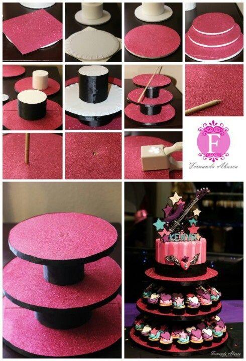diy torre cupcakes 7