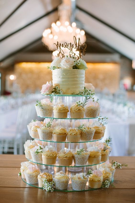 diy torre cupcakes vidro