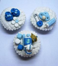 doces para cha de bebe menino