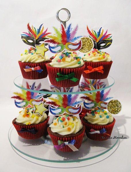 docinhos carnaval cupcakes 1