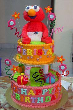 elmo bolo decorado