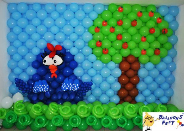 festa aniversario galinha pintadinha baloes