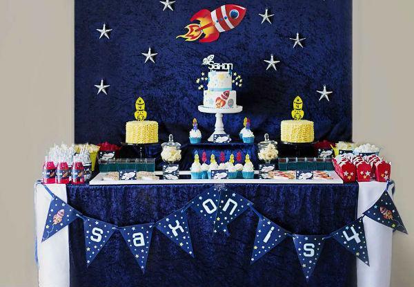 festa astronauta decoracao bolo 1