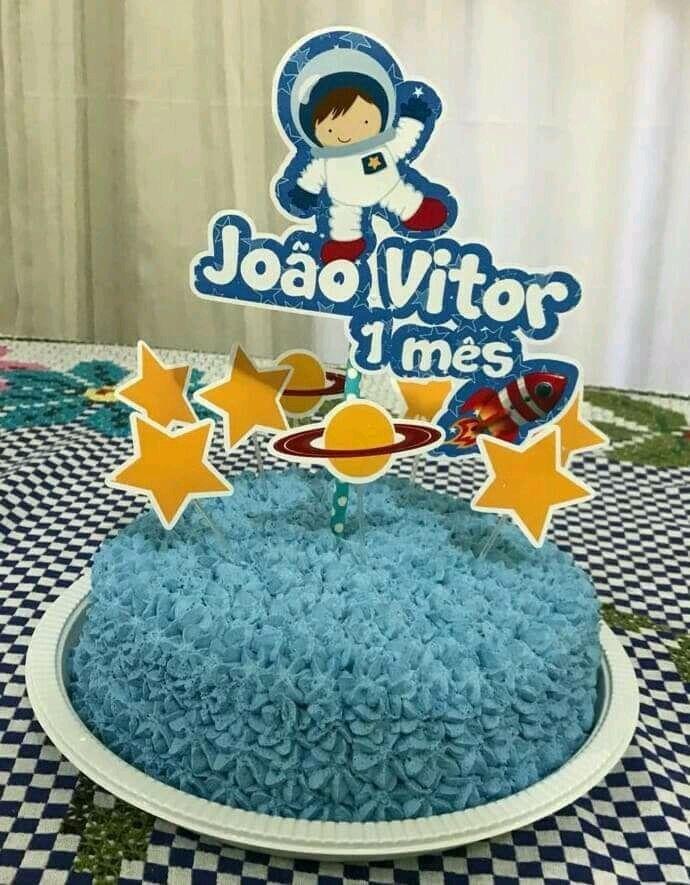 festa astronauta decoracao bolo 10
