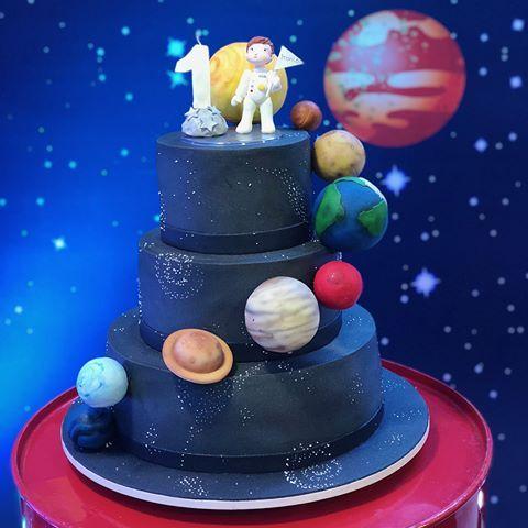 festa astronauta decoracao bolo 11