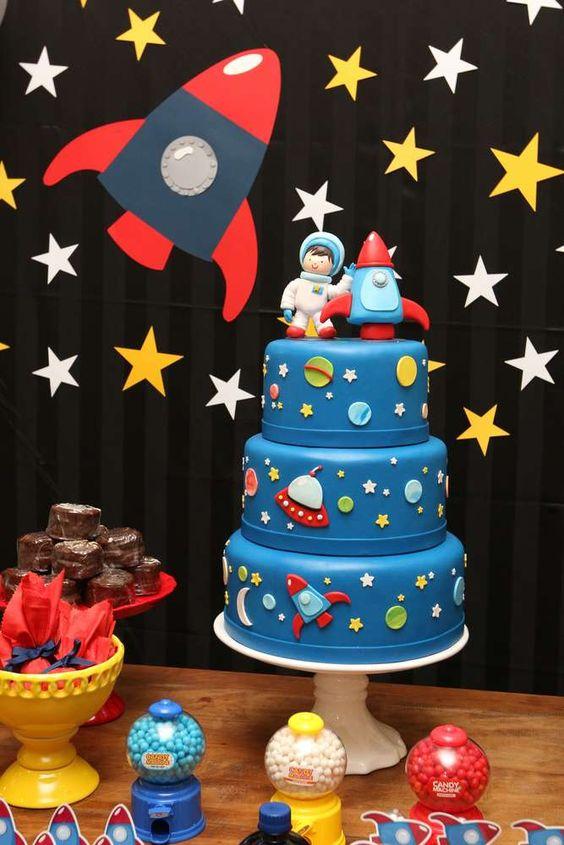 festa astronauta decoracao bolo 2