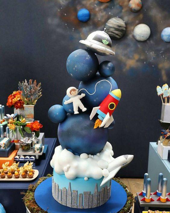 festa astronauta decoracao bolo 3