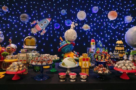 festa astronauta decoracao bolo 7