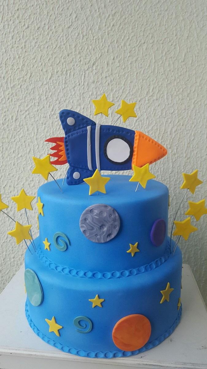 festa astronauta decoracao bolo 9