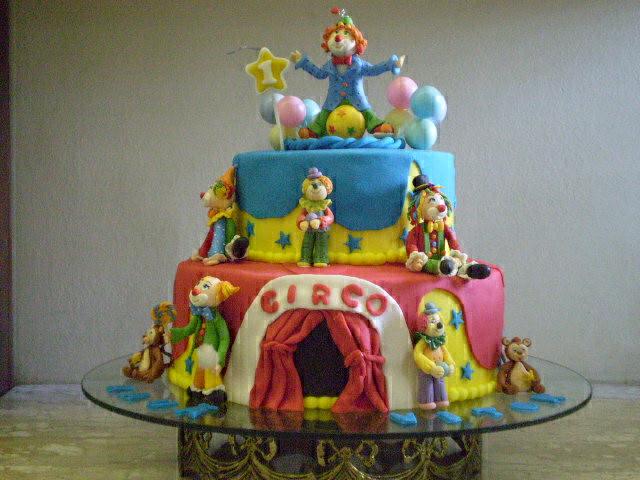 festa bolo palhaço