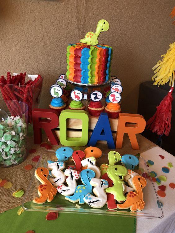 festa dino baby bolo bolachas