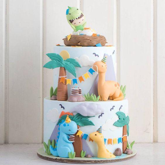 festa dino baby bolo ideias