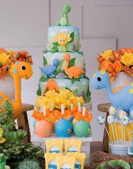 festa dino baby bolo