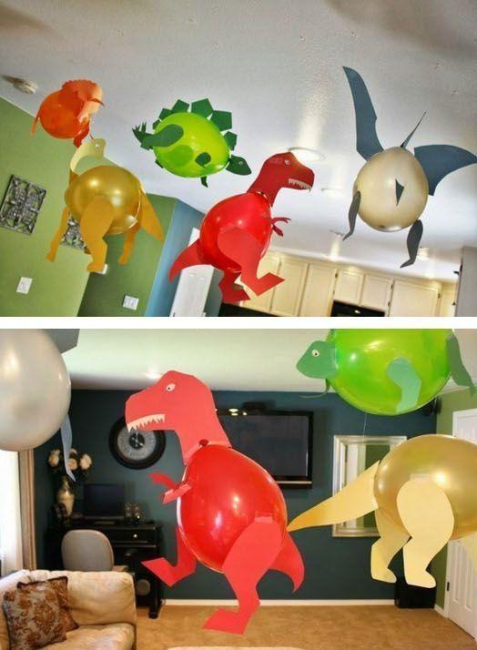 festa dino baby decoracao bexigas