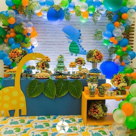 festa dino baby decoracao criativa