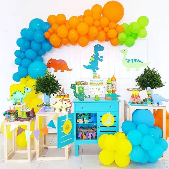 festa dino baby decoracao