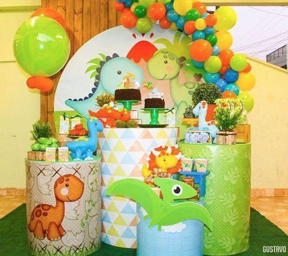 festa dino baby painel