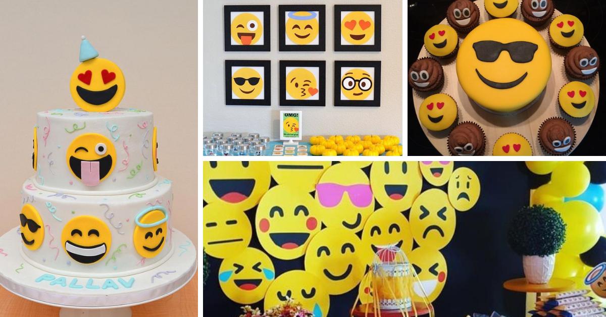 Festa Emoji: Dicas de Decoração e Bolos Decorados