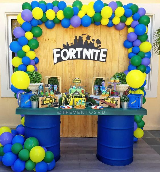 festa fortnite decoracao ideias