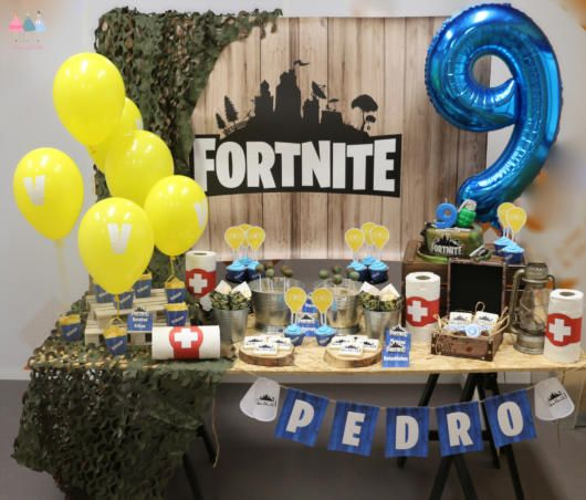 festa fortnite decoracao