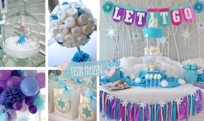 9 Ideias DIY para Decoração de Festa Frozen