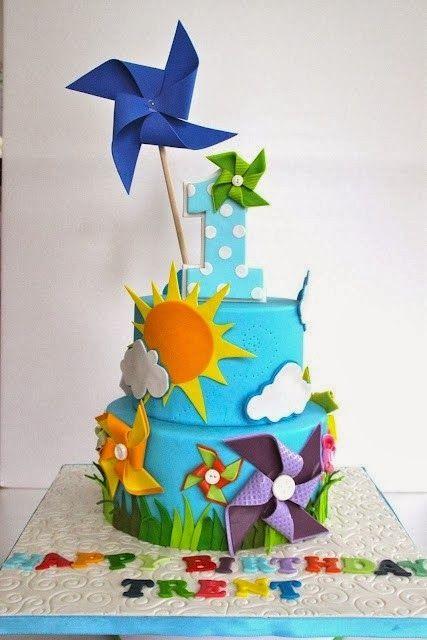 festa pipas cataventos bolo decorado 2