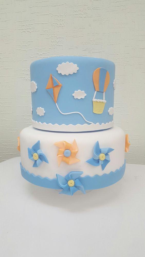 festa pipas cataventos bolo decorado 4