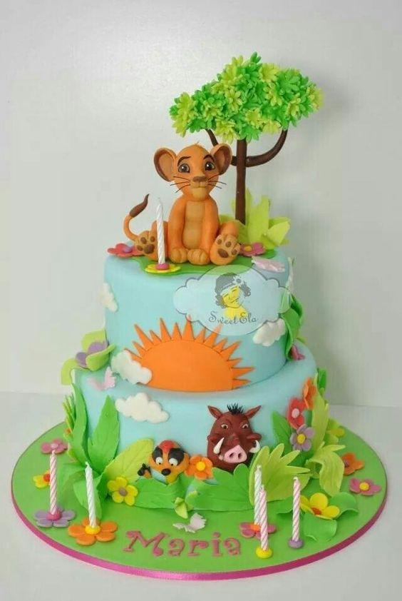 festa rei leao bolo 1