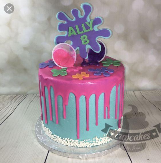 festa slime bolo colorido