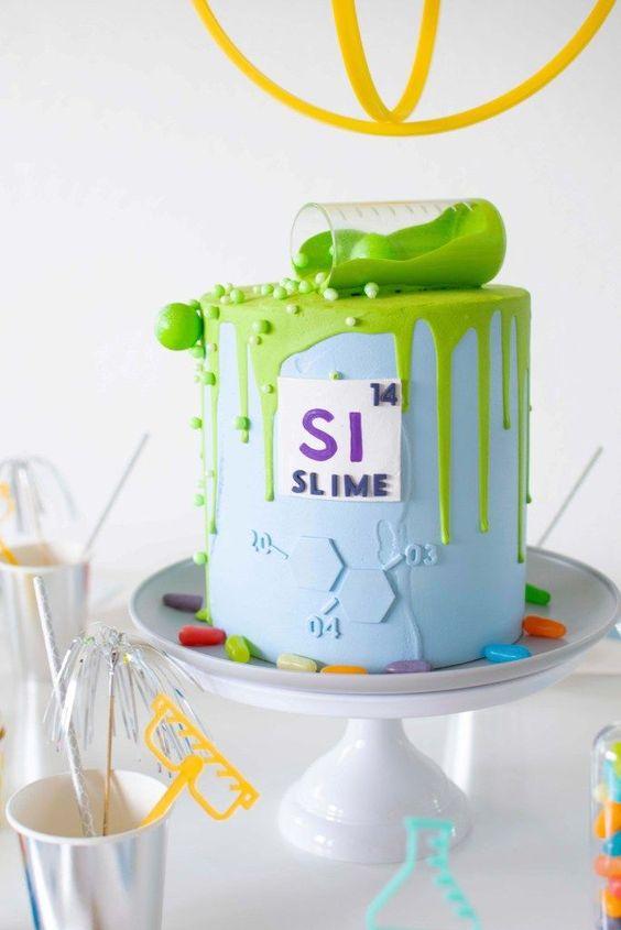 festa slime bolo simples