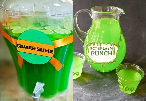 festa slime doces bebida