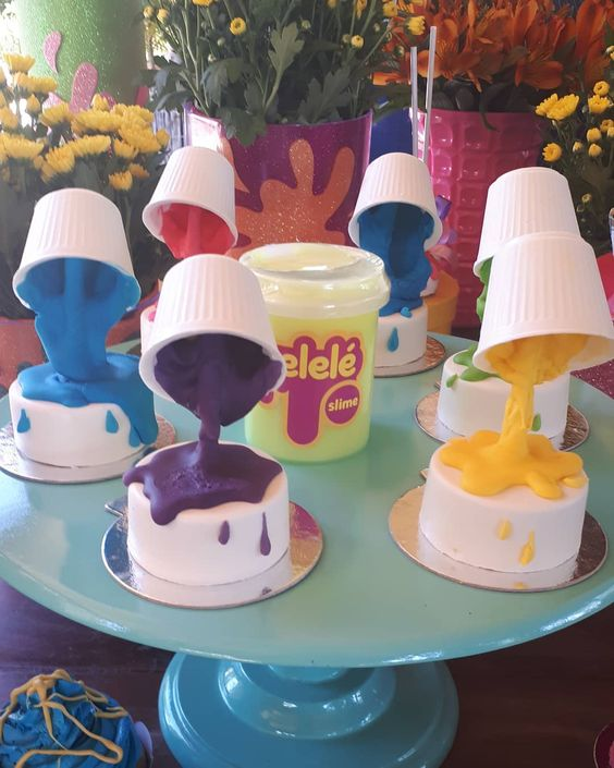 festa slime doces cupcakes