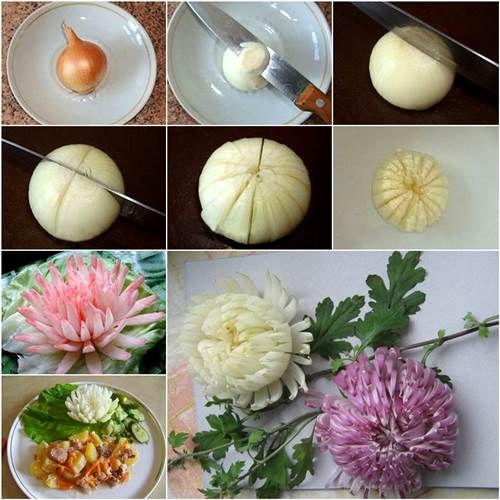 flores comestiveis cebola