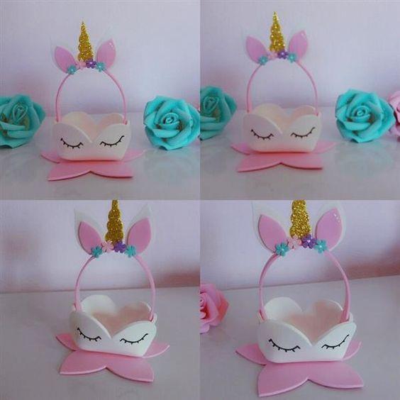 forminhas doces unicornio