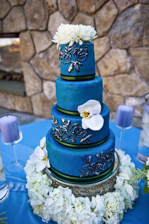 foto bolo noiva azul