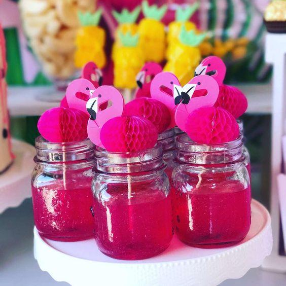 gelatina criativa festa tropical flamingo