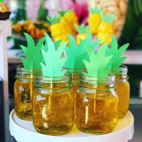 gelatina criativa festa tropical