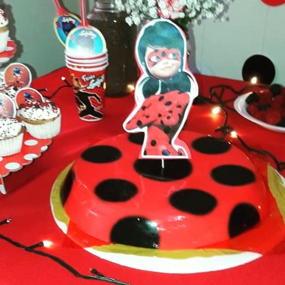gelatina criativa ladybug bolo