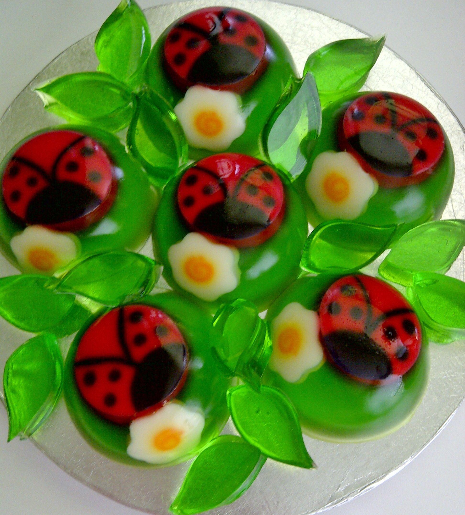 gelatina criativa ladybug