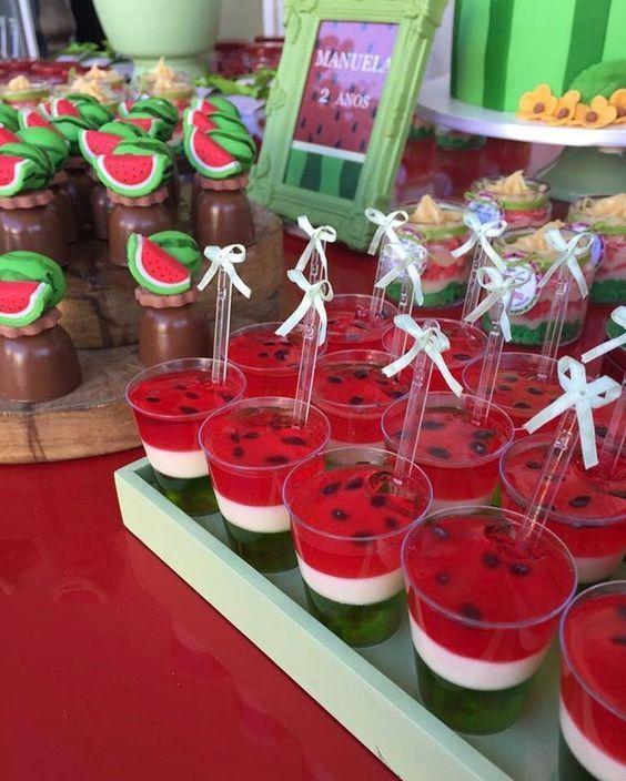 gelatina criativa melancia