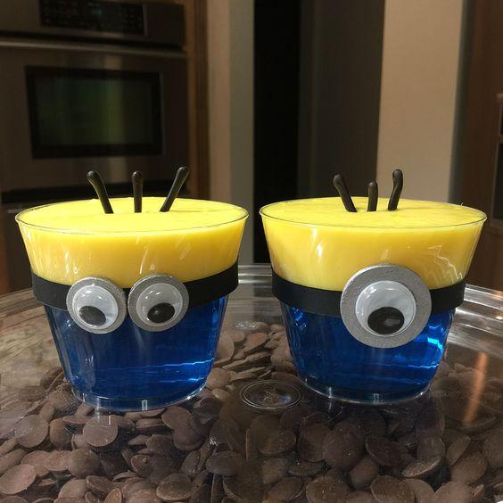 gelatina criativa minions copo