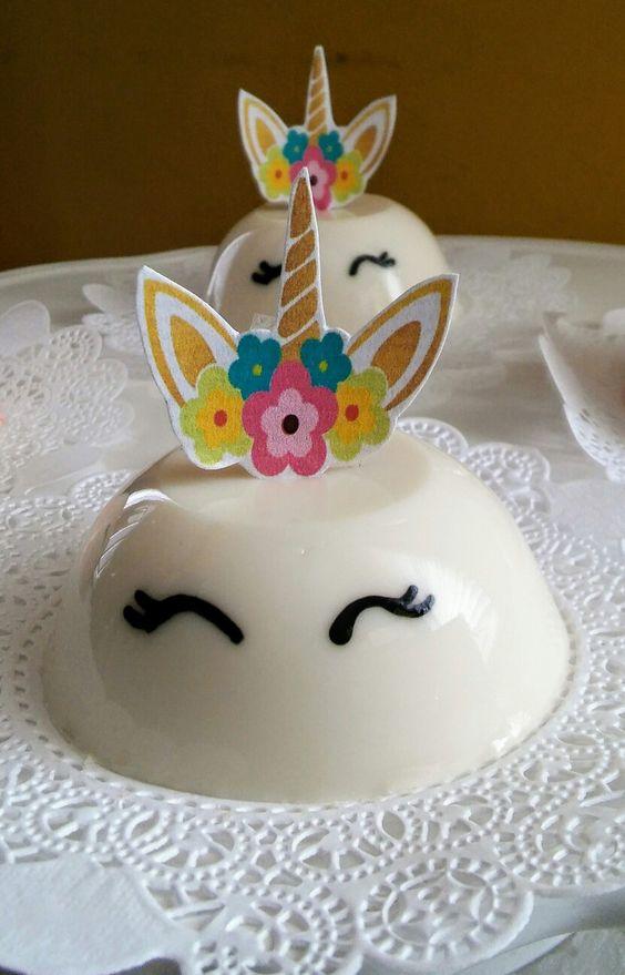 gelatina criativa unicornio