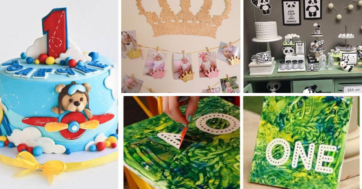 Festa do Primeiro Aniversário- Ideias Giras e Bolos Decorados