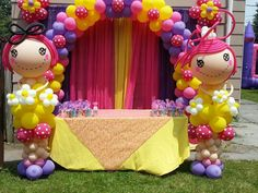 ideias decoracaçao festa lalaloopsy baloes