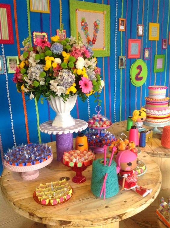 ideias decoracaçao festa lalaloopsy mesa