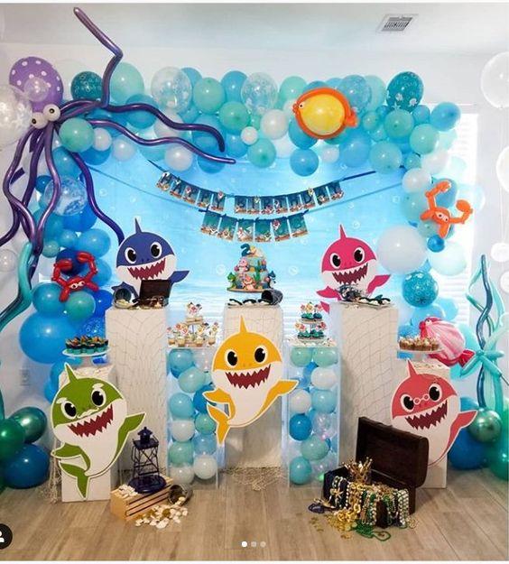 ideias decoracao festa baby shark 1